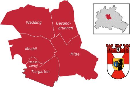 Bezirkskarte Berlin-Mitte