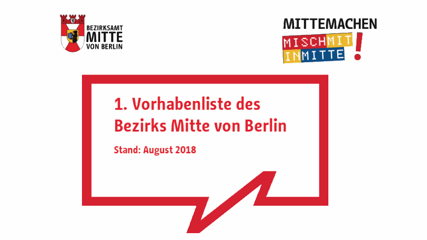 1.Vorhabenliste im Bezirk Berllin-Mitte
