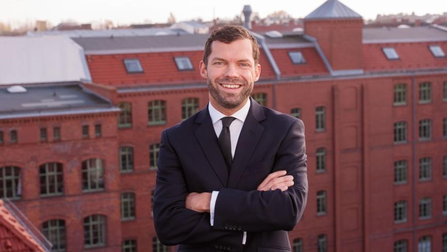 Sebastian Blecke, Geschäftsführer der GSG Berlin