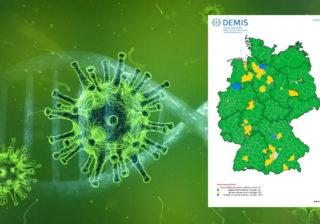 Visualisierung des Coronavirus - Grafik: Pixabay, RKI