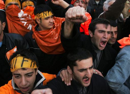 Demonstration der Opposition nach den Parlamentswahlen, Baku, Aserbaidschan
