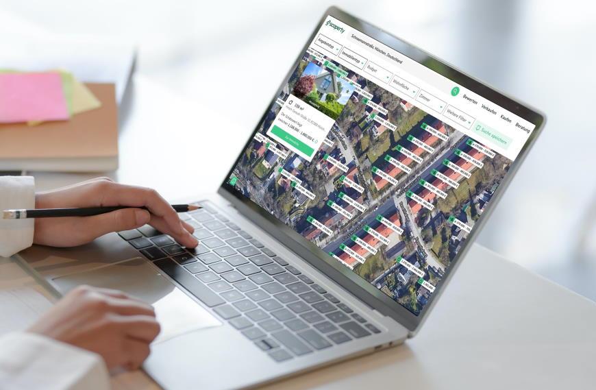 Immobilienmarkt auf der digitalen Karte:  Scoperty München Karte