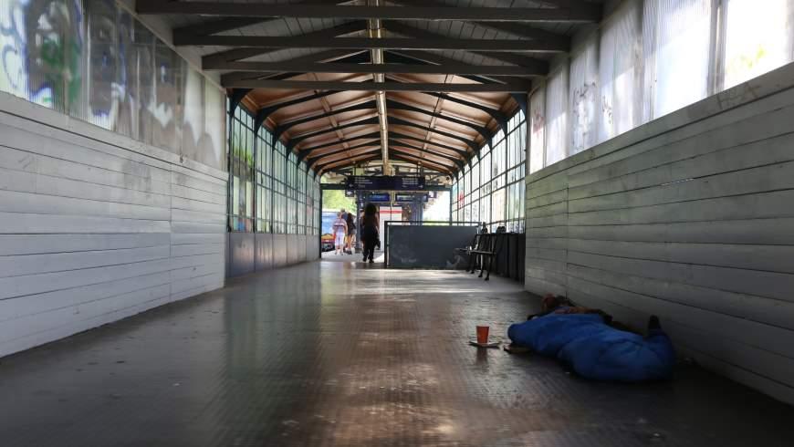 Obdachlos im S-Bahnhof
